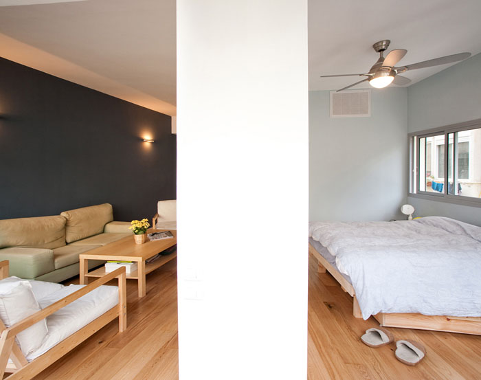Small Apartment Design In Tel Aviv With Great Floorplan - Small-apartment-bedroom-ideas