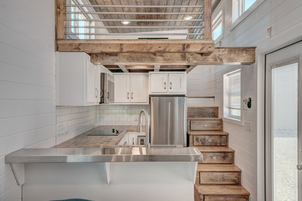 Luxury Mobile Tiny House With Elegant Interiors And Drawer Style Staircase Idesignarch Interior Design Architecture Interior Decorating Emagazine