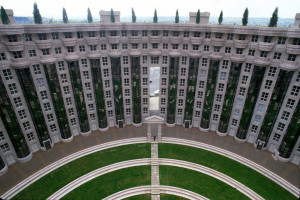 Arc Shaped Apartment Building
