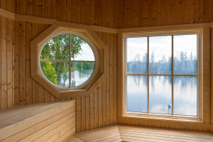 Sauna Room with River View