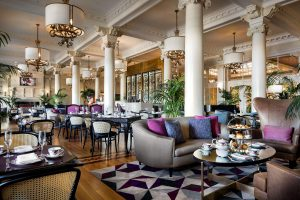 English High Tea in the grand salon at Fairmont Empress Hotel - Victoria British Columbia Canada
