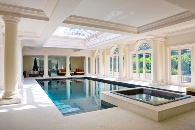 Indoor Swimming Pools With Classical Design