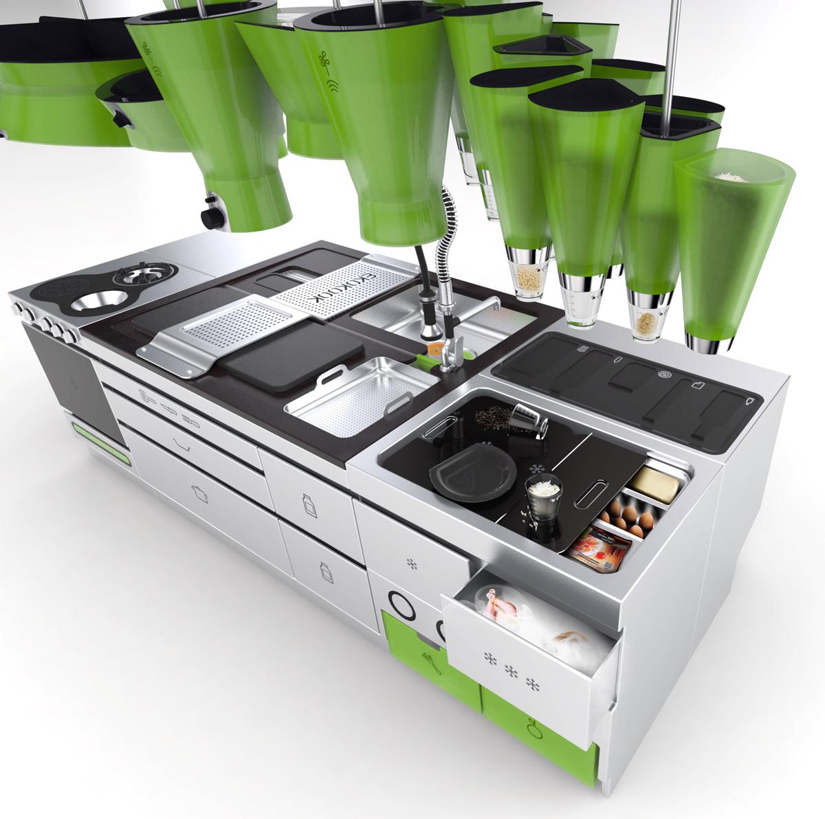 Eco Friendly Futuristic Kitchen Idesignarch Interior