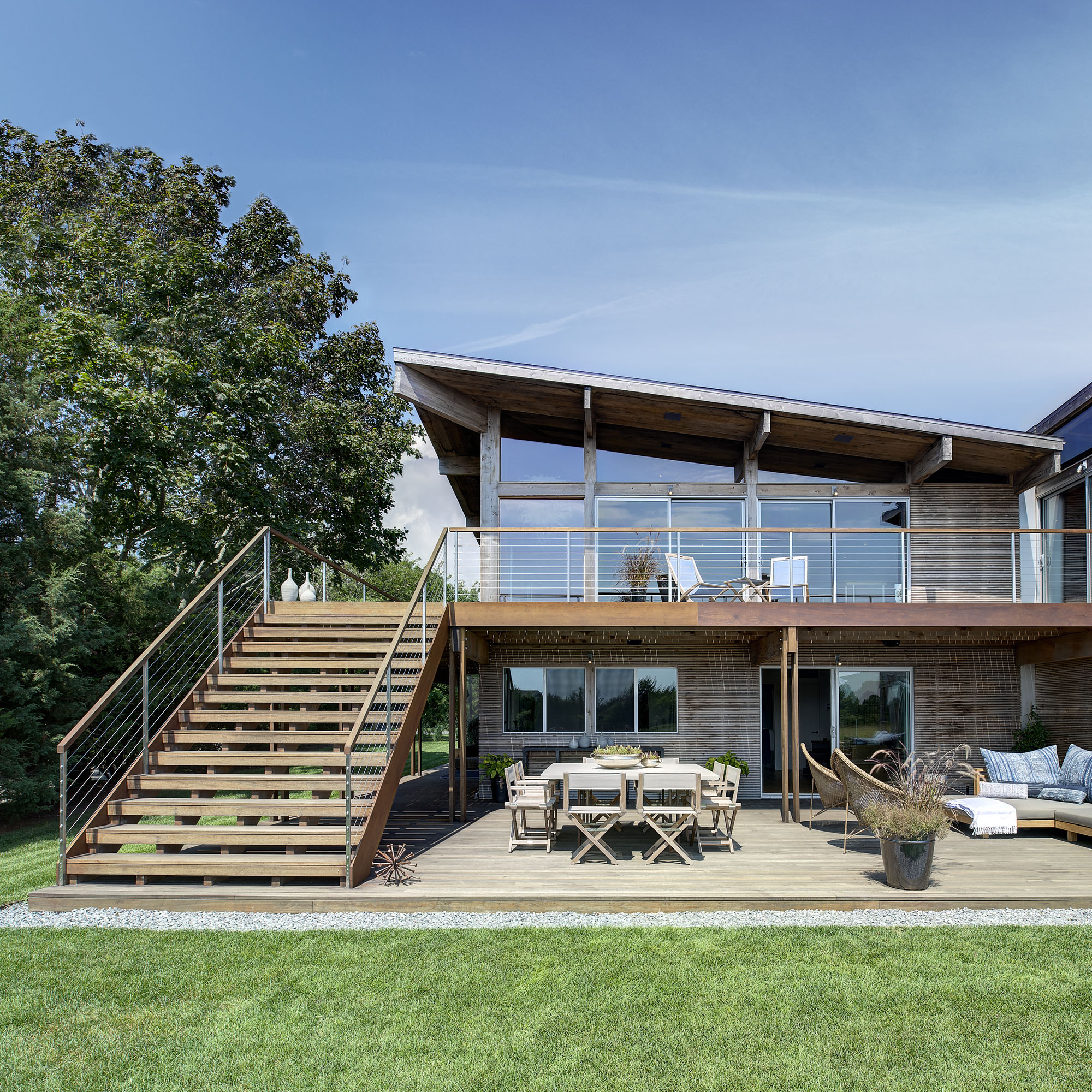 Hurricane-Proof Wood And Steel Waterfront Home On Long
