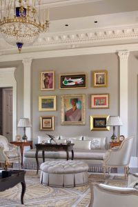 Living Room with Classical lines and Art Deco painting by Dutch artist Emile van der Cammen