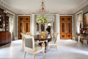 Elegant Ornate Dining Room with Replicas created by the State Hermitage Museum