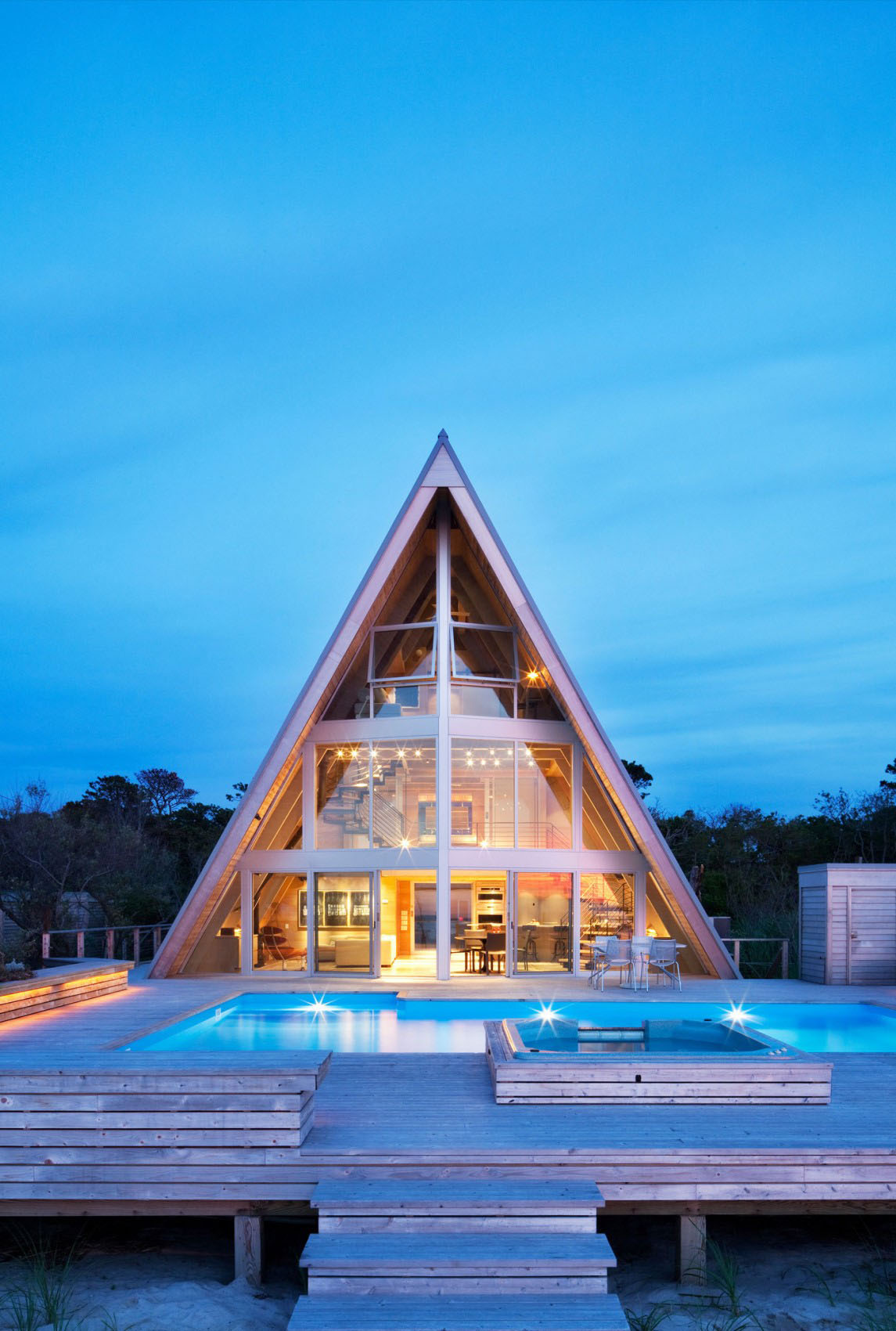 Newly redesigned A-Frame House with Swimming Pool