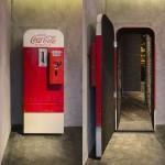 Vintage Coca-Cola Vending Machine Door Opens To A Secret Bar In Shanghai