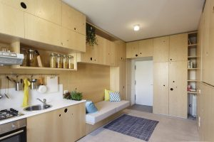 Tiny Studio Apartment with Lots of Storage