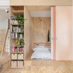 Small Inner-City Apartment Uses Plywood To Enhance Perception Of Space