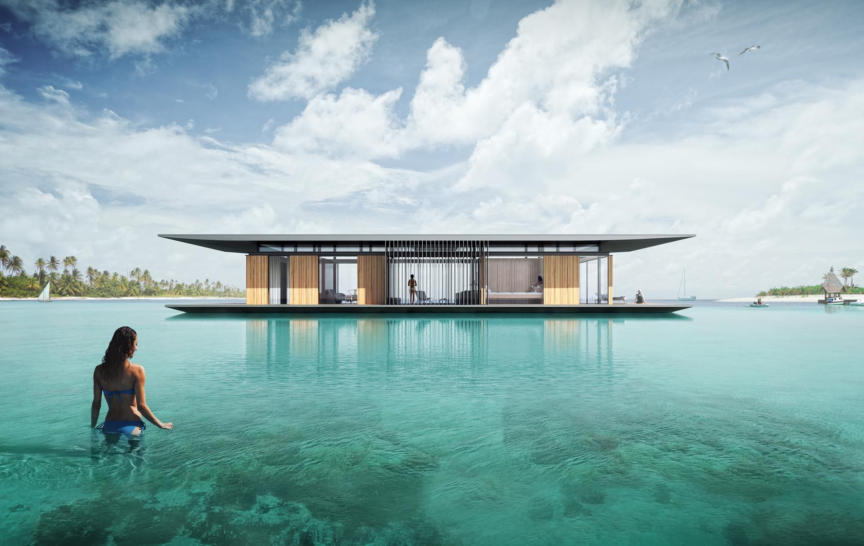 Modern Floating House