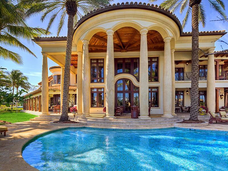 Front Elevation Restaurant : Fort lauderdale mediterranean style estate with beautiful