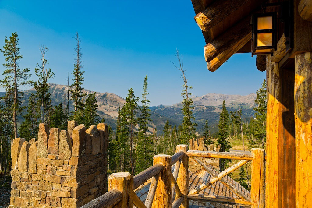 Big Sky Montana Balcony with Mountain View