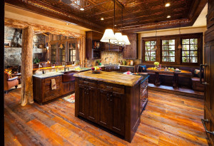 Rustic Country Kitchen with Natural Wood