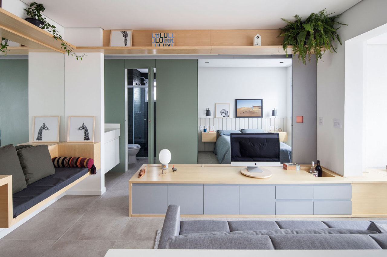 Small Apartment Maximizes Its Functional Space with Sliding ...