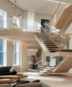 Modern Penthouse with Grand Staircases