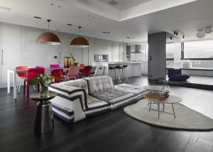 Minimalist Apartment with Stylish Colors