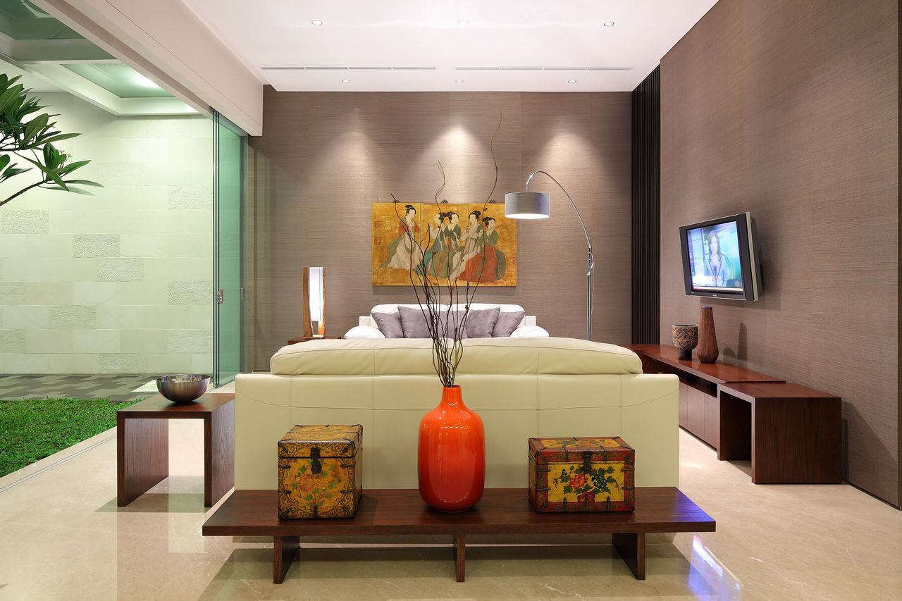 Luxury garden house in jakarta idesignarch interior design architecture interior for Interior decoration accessories