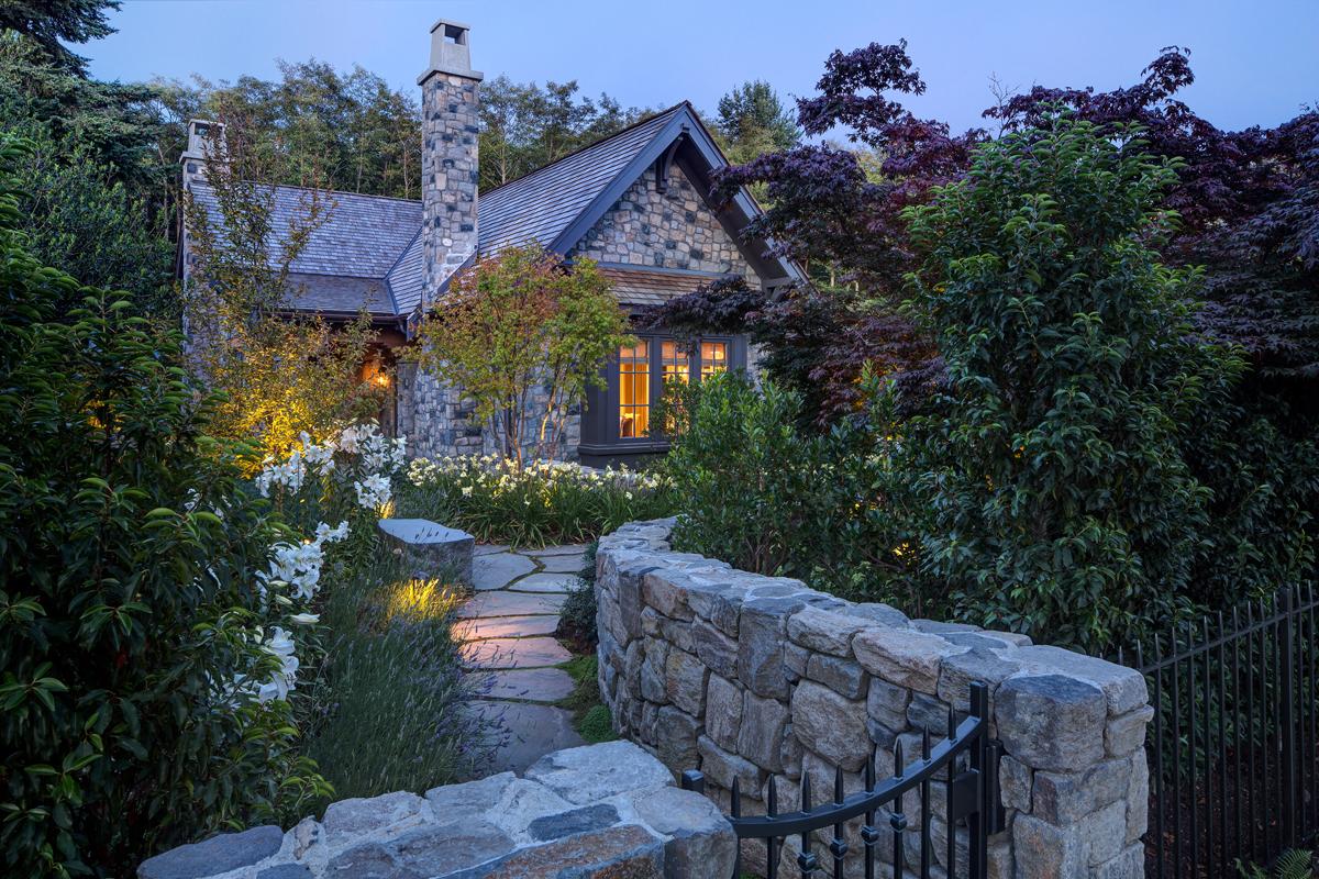 Luxury Garage Doors >> Elegant City Stone Cottage in Lush Garden Setting | iDesignArch | Interior Design, Architecture ...