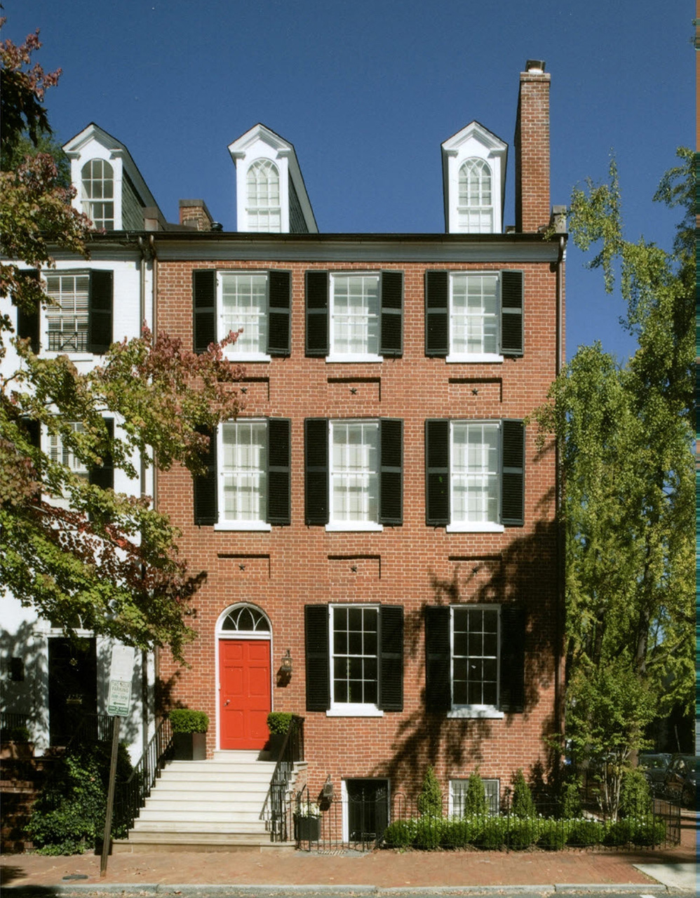 Federal Style Townhouse With Restored Exterior And