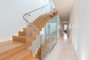 Floating Staircase and Glass Elevator