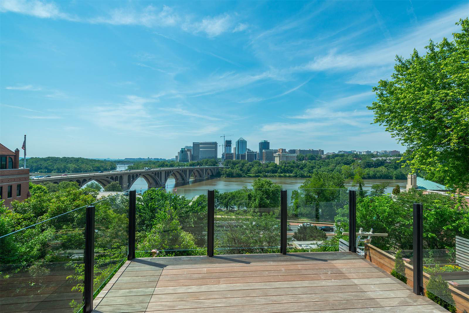Townhouse Terrace with views of The Potomac River