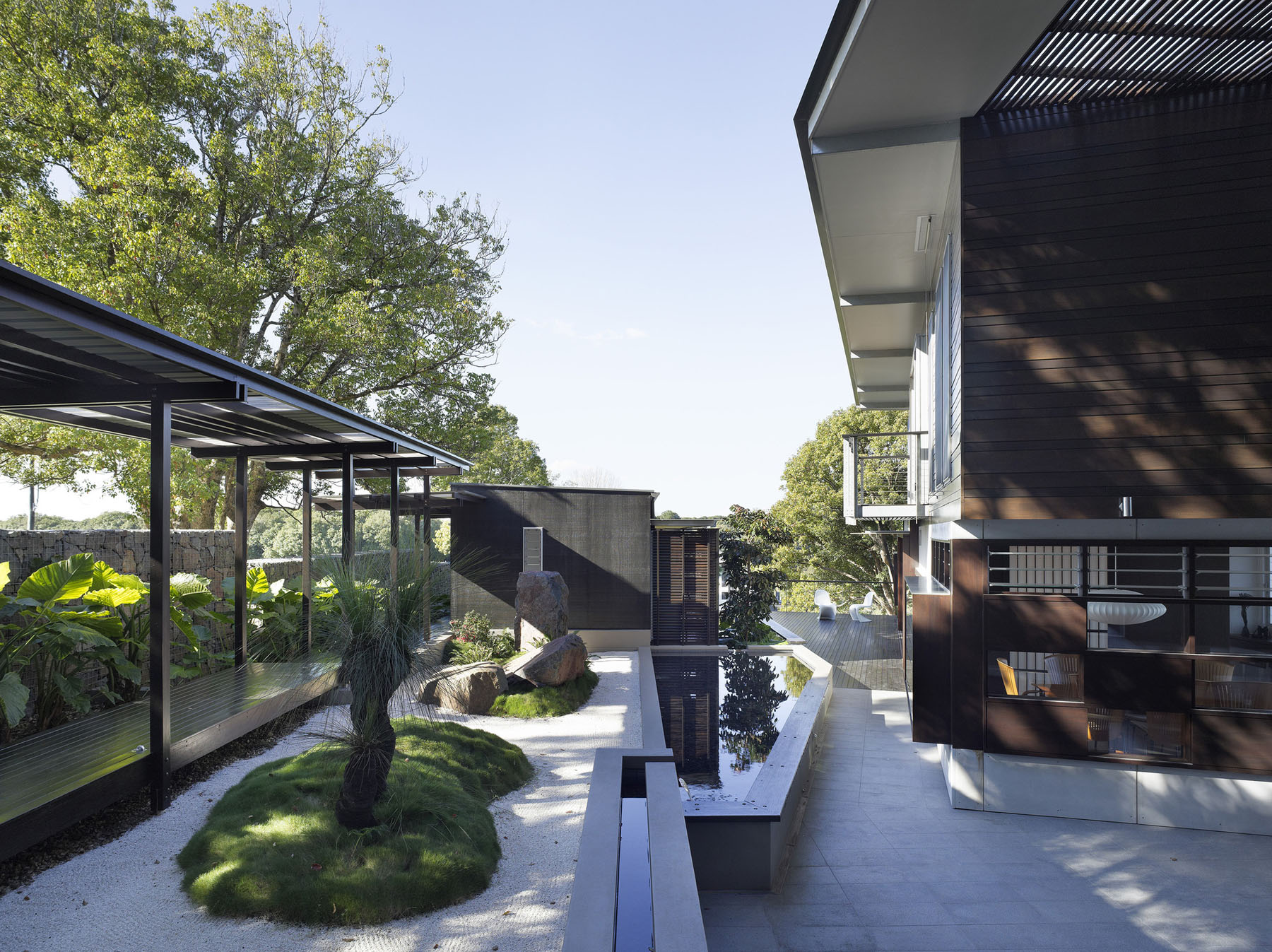 Courtyard Sanctuary with Japanese Influence