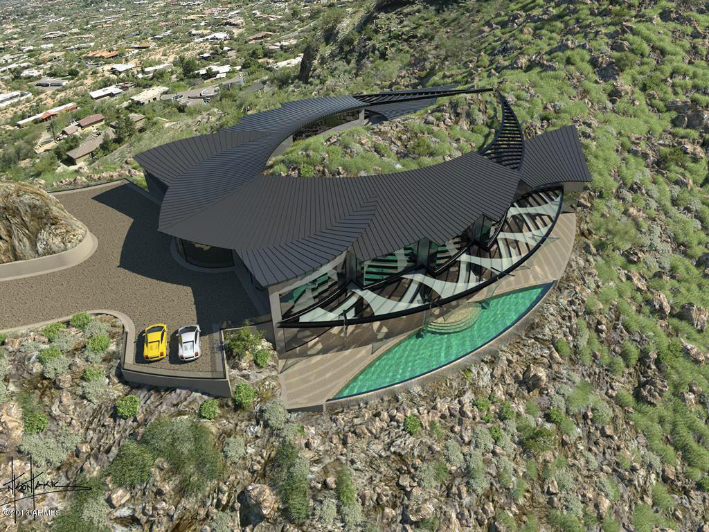 Futuristic Luxury Home Atop Mummy Mountain In Paradise
