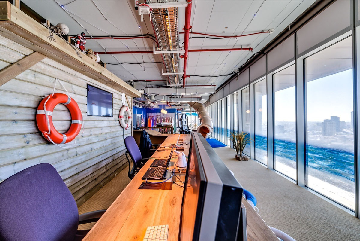 Google tel aviv office interiors idesignarch interior for Design en interior