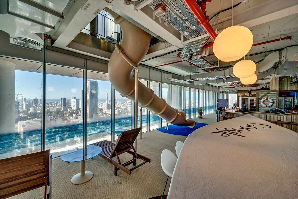 Google tel aviv office interiors idesignarch interior design architecture interior - Penthouse ac du square one studio ...