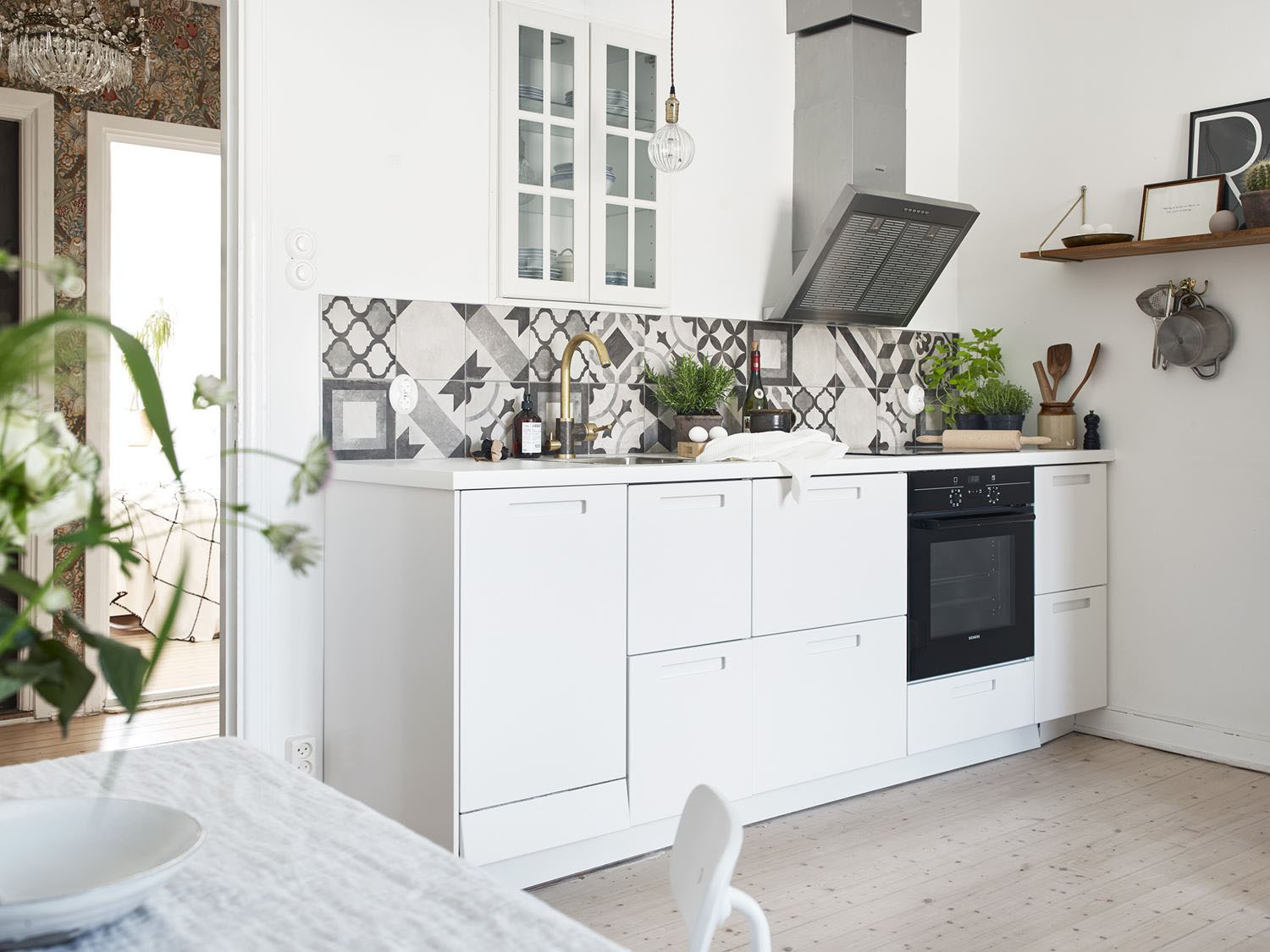 Beautifully Refurbished Small Apartment With Open Kitchen In The Living Room Idesignarch Interior Design Architecture Decorating Emagazine