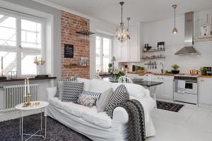 Small Studio Apartment with White Decor
