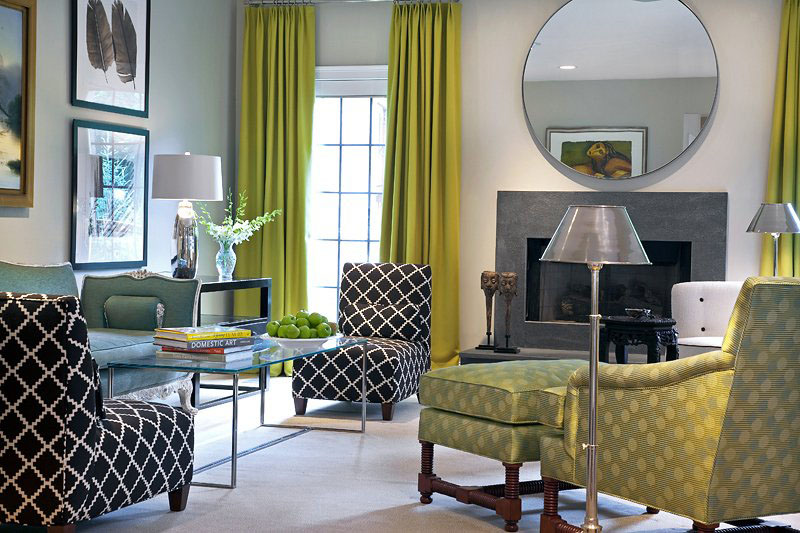 Elegant Green palette Living Room