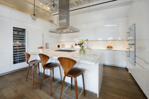 Modern White Apartment Kitchen