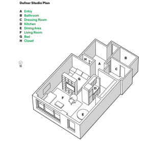 New York Studio Apartment Floorplan