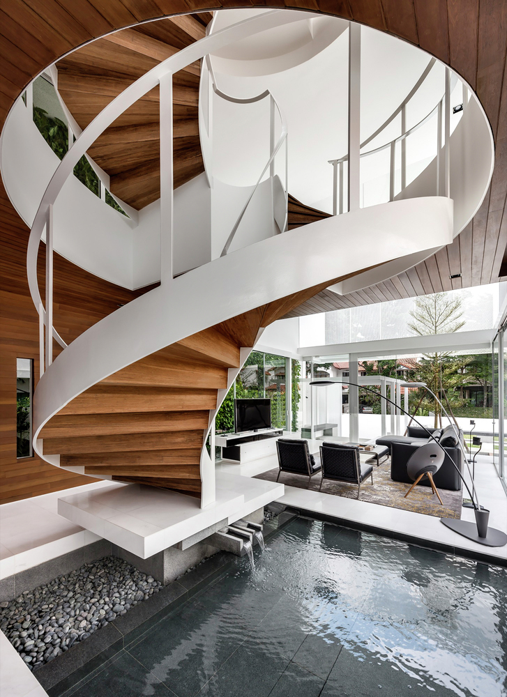 A Minimalist S Dream Home In Singapore With A Privacy Wrapped White