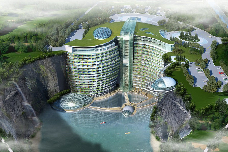 Groundscraper-Hotel-Songjiang-China