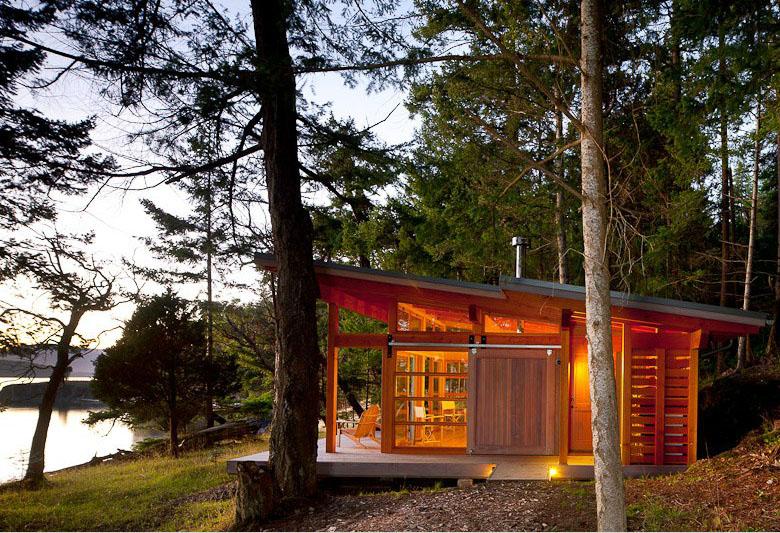 Red Cedar Cabin Paradise On The Gulf Islands Idesignarch Interior Design Architecture
