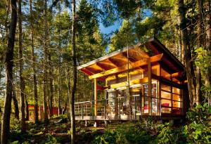 environmentally-friendly wood cabins