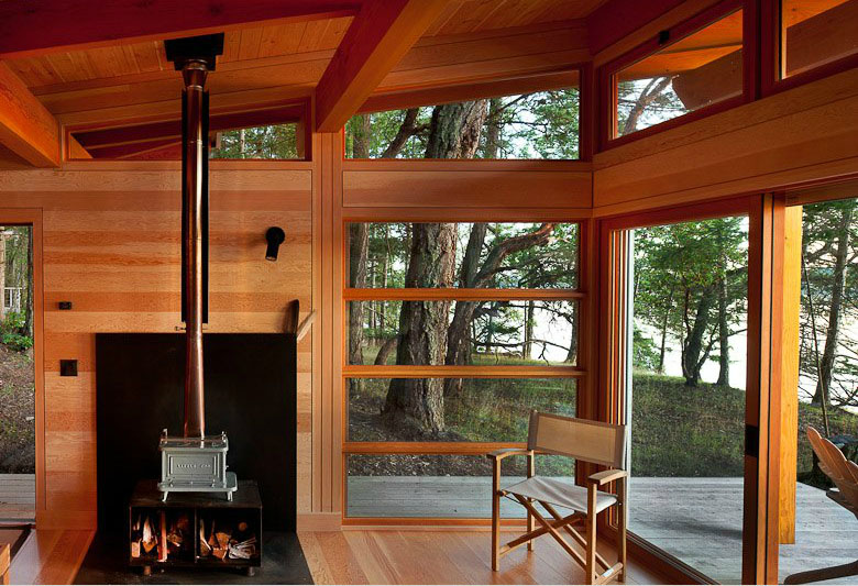 Red Cedar Interior Cabin Living