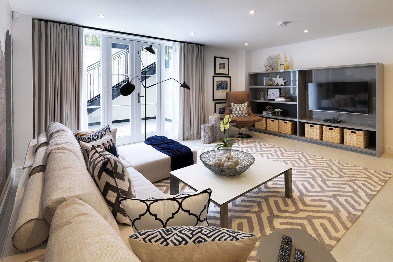 Contemporary London Town Home Interior