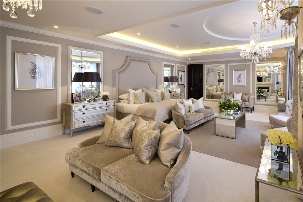 Contemporary Luxury Master Bedroom