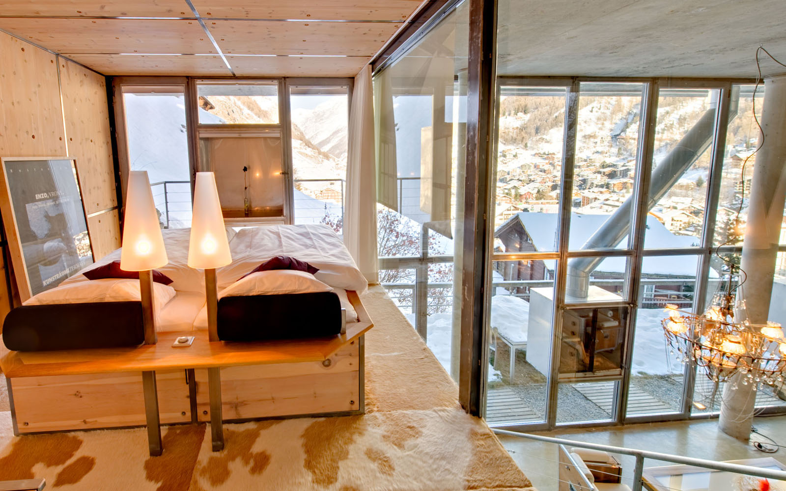 Heinz Julen Ultra Contemporary Mountain Chalet Loft