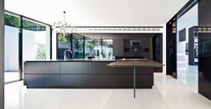 Minimalist Large Modern Kitchen