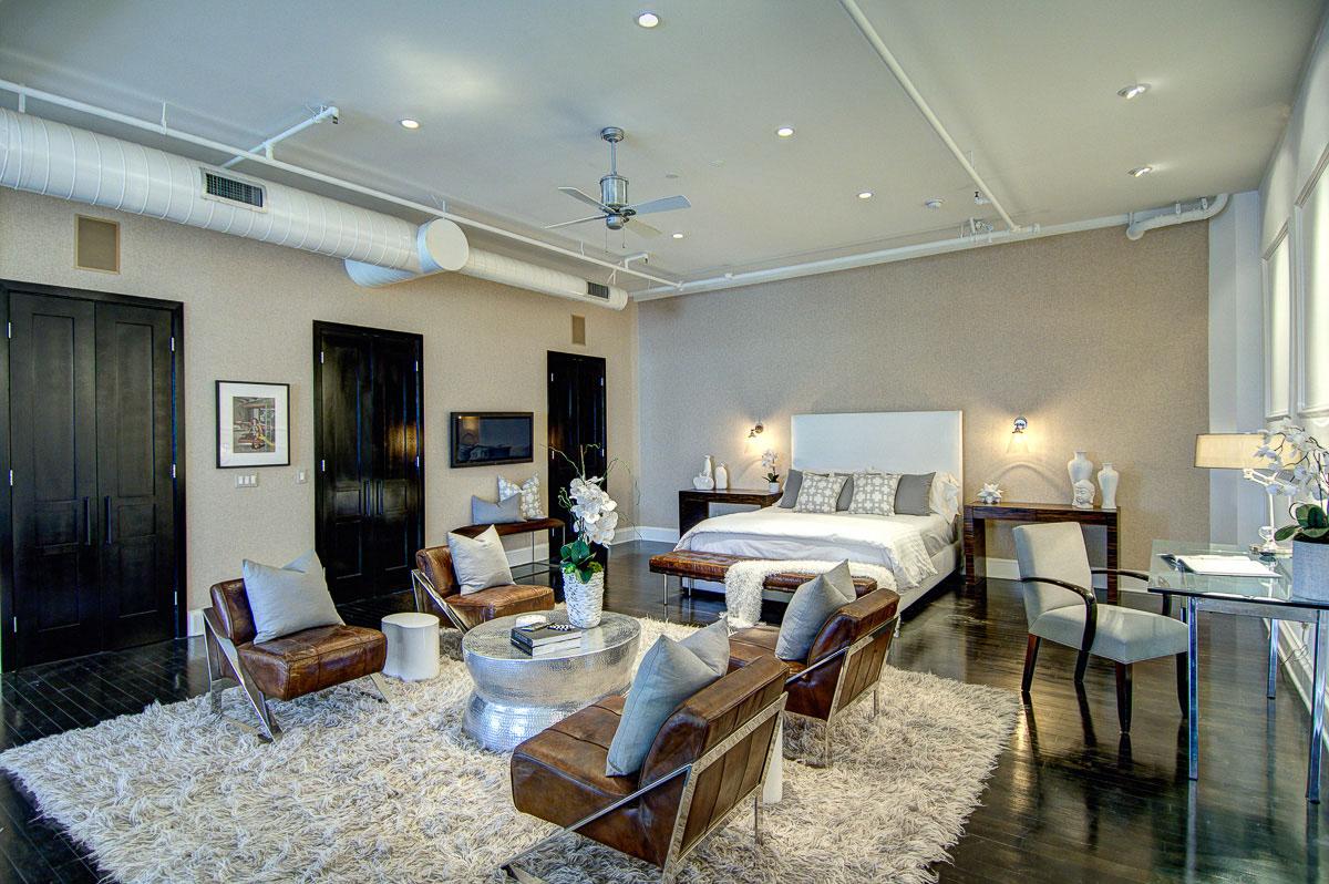 Elegant Loft Bedroom