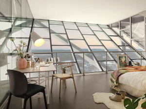 Glass Penthouse at Top of Tower with Breathtaking Views