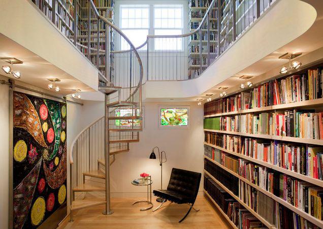 Modern Home Library Design