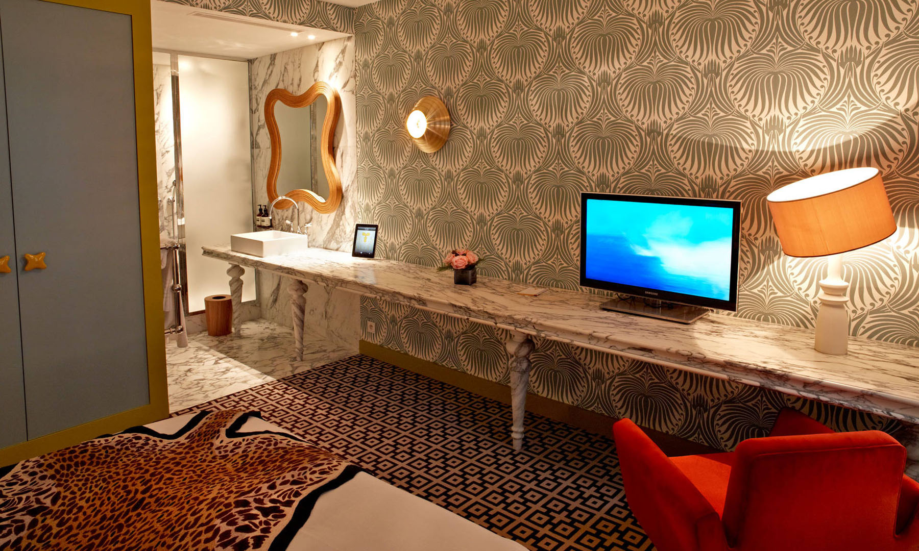 French Art Deco Interior Design By India Mahdavi At Hotel Thoumieux Paris Idesignarch
