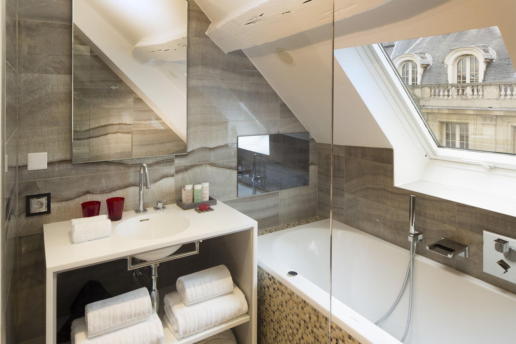 Stylish Modern Attic Bathroom