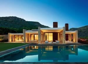 Modern Mediterranean Stone House
